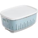 居家家雙層收納盒大號冰箱食物保鮮盒家用透...