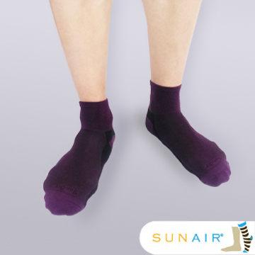 sunair 滅菌除臭襪子-運動薄襪 短筒 (L25~29) (紫+黑) /SA2802
