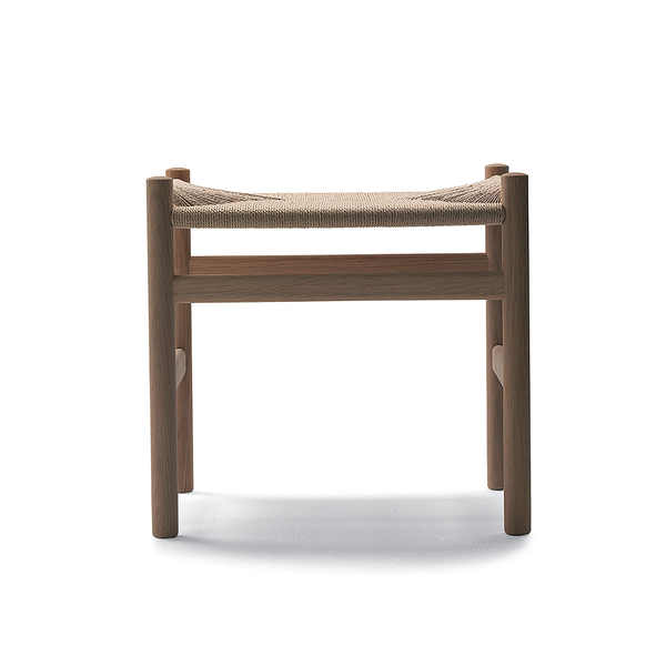 Carl Hansen & Son CH 53 Wegner Stool with Soap Finish 威格納 椅凳 / 玄關椅 皂裝款(橡木 / 原色紙纖)