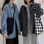 牛仔外套初秋季新款學生百搭牛仔外套潮女寬鬆韓版bf工裝上衣  夏季上新