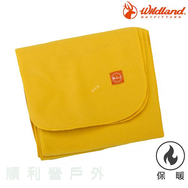 荒野WILDLAND 輕柔PILE保暖圍巾 W2010 駱黃色 刷毛圍巾 不易產生靜電 OUTDOOR NICE