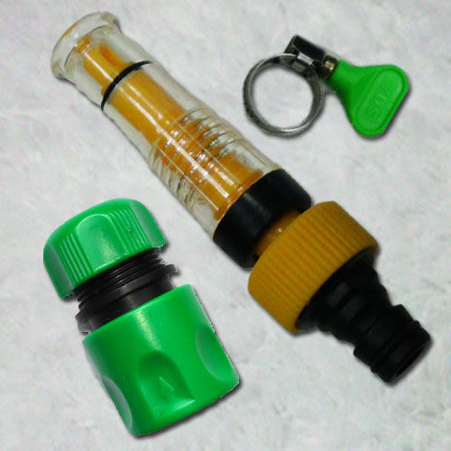 《魔特萊Motely》透明 加壓水槍 〈3件式〉-加壓水柱 高壓清洗 洗車門窗 澆花