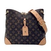 【台中米蘭站】Louis Vuitton ODÉON MM 帆布斜背包 (M45355-咖)