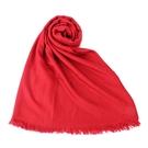 HERMES愛馬仕H織紋喀什米爾羊毛混絲披肩圍巾(紅色)179290