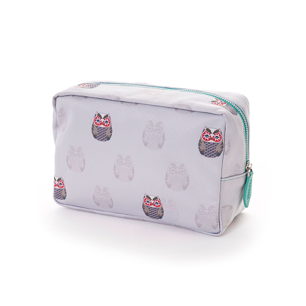 Papinee Owl Cosmetic Pouch Large, 英國 貓頭鷹 旅行系列 多功能 立式收納包 / 化妝包 大尺寸