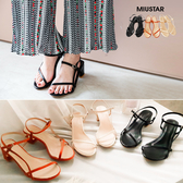 現貨-MIUSTAR 夏日風情!低跟細綁帶涼鞋(共3色,36-39)【NG0600ZP】