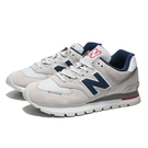 NEW BALANCE 574 休閒鞋 經典 CLASSIC 白灰 麂皮 慢跑 情侶鞋 男女 (布魯克林) ML574DTC