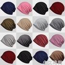 堆堆帽男女春夏薄款封頂棉質套頭帽百搭透氣包頭帽棉質睡帽月子帽 小艾新品