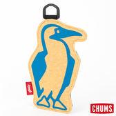 CHUMS 日本 Booby 造型悠遊卡夾 霧金黃/湖綠 CH602012Y017