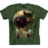 【摩達客】 大 3X 美國 【The Mountain 】自然純棉系列黑熊盾 T 恤104