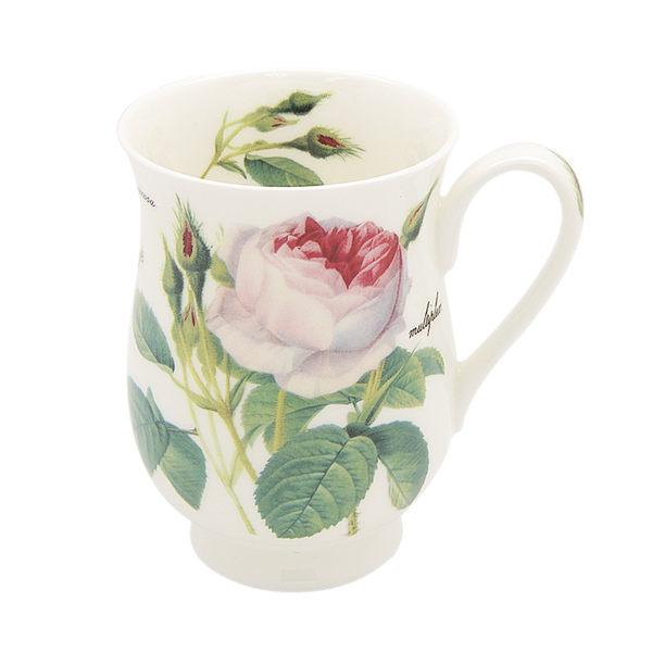 英國Roy kirkham浪漫淺玫瑰320ml牛奶杯