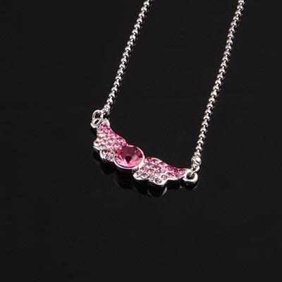 925純銀項鍊 水晶墜飾-亮麗鎖骨短款生日母親節禮物女飾品5色73aj53【巴黎精品】