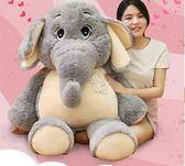 可愛大象公仔少女心毛絨玩具睡覺抱枕小象布娃娃兒童生日禮物女生 晴光小語