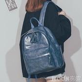 bf風書包女2021新款韓版簡約大容量森繫大學生pu軟皮雙肩包背包男 現貨快出