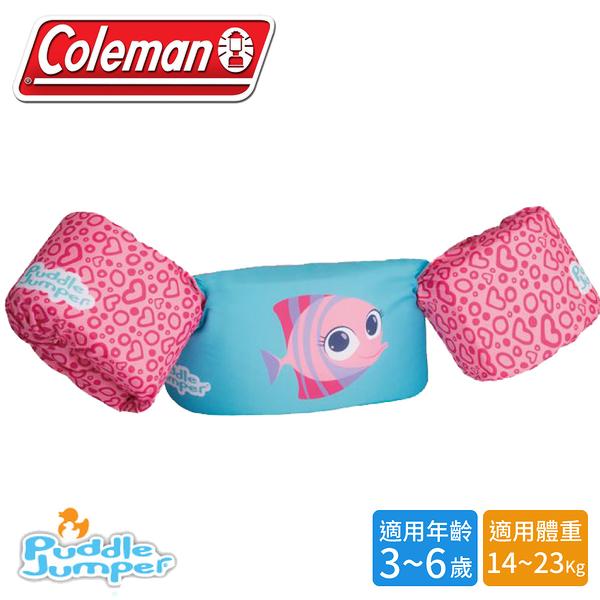 【Coleman 美國 兒童手臂型浮力衣《粉紅魚》】33964/浮力背心/救生衣/游泳圈/救生圈