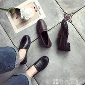 新款復古小皮鞋女學生學院風英倫平底工作黑色韓版百搭樂福鞋單鞋 -可卡衣櫃