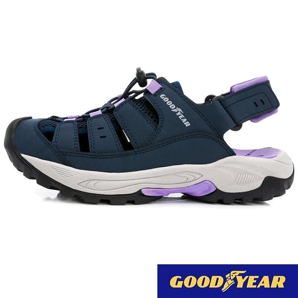 女款 GOODYEAR固特異 12627 透氣排水防滑耐磨輕量軟Q 水陸車鞋 休閒運動涼鞋 護趾涼鞋 59鞋廊