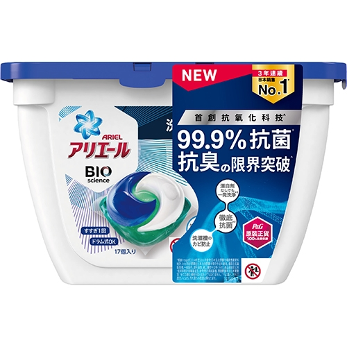 Ariel3D抗菌洗衣膠囊17顆【愛買】