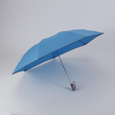 創新反向自動開收傘-奈米超潑水布(水藍)