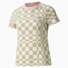 PUMA Downtown graphic 女裝 短袖 T恤 休閒 格紋 棉 歐規 卡其【運動世界】53167742