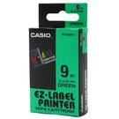 【奇奇文具】卡西歐CASIO XR-9GN1 9mm×8M 綠底黑字 標籤帶