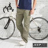 【JEEP】品牌經典舒適工作長褲-橄欖綠