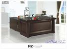 【MK億騰傢俱】ES603-05愛爾蘭5.8尺主管辦公桌組(含主管桌*1、活動側櫃*1、活動櫃*1)