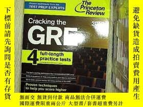 二手書博民逛書店Cracking罕見the GRE with 4 Practic