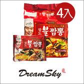 韓國  PALDO 八道 炒碼海鮮風味湯麵 (139X4) 泡麵  炒碼麵 拉麵 李連福 拜託吧冰箱 DreamSky