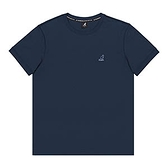 KANGOL 中性款藍色刺繡小logo休閒短袖上衣-NO.6125101080