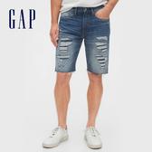 Gap 男裝 做舊水洗五口袋牛仔短褲 536728-染色破洞