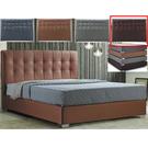 皮床 布床架 CV-169-4A 凱拉5尺深咖啡色雙人床(不含床墊及床上用品)【大眾家居舘】