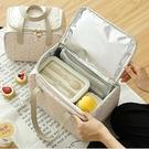 保溫袋 便當袋手提包上班族帶飯包包鋁箔加厚裝餐盒的袋子大號飯盒保溫袋-Ballet朵朵