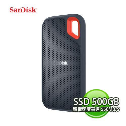 SANDISK 新帝 EXTREME PORTABLE SSD E60 500GB 500G 行動固態硬碟 SDSSDE60-500G-G25