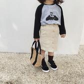 女童短裙 女童半身裙2020兒童新款純色小孩 兒童短裙小女孩豎條紋裙子【中秋節預熱】