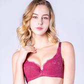 思薇爾-輕戀香系列B-F罩蕾絲包覆內衣(波斯紅)