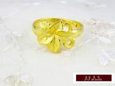 9999純金 黃金 金戒指  簡單 花卉造型  戒指  探親 送禮 自用推薦