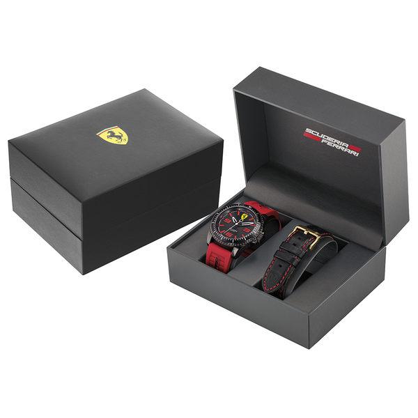 送限量鋼珠筆 Scuderia Ferrari 法拉利 XX KERS 競速套錶-45mm FA0870025