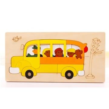 Jigsaw 益智兒童立體拼圖-校車