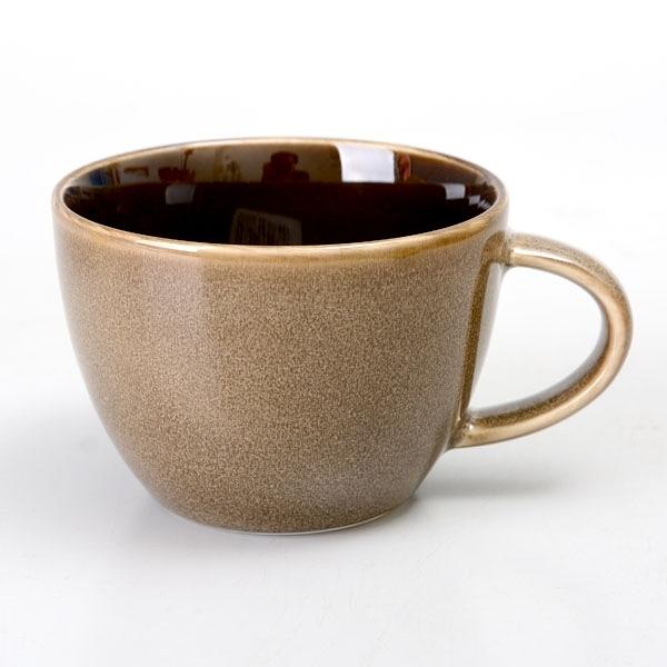 【Luzerne】陸升瓷器 Rustic 茶杯 249ml-咖啡色 /RT1407133