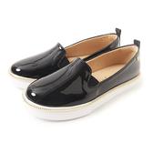 Petite Jolie 金屬飾邊亮面帆布鞋-黑色