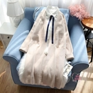 針織外套女 秋冬新款中長款寬鬆很仙的慵懶風厚款毛衣開衫線衣
