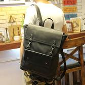 男雙肩包 韓版後背包 可放14吋筆電《印象精品》y1241