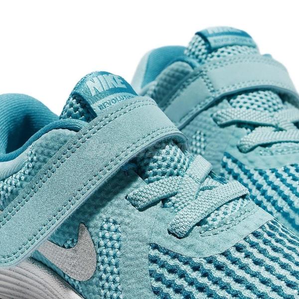 Nike 慢跑鞋 Revolution 4 TDV 藍 白 魔鬼氈 運動鞋 童鞋 小童鞋【ACS】 943308-400