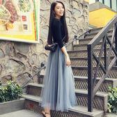 裙子仙女裙時尚半身裙夏長裙蓬蓬裙百褶裙