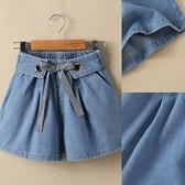 女童牛仔短褲 女童牛仔短褲夏季新款兒童褲子薄款中大童牛仔褲女孩百搭洋氣-Ballet朵朵