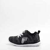 FILA   兒童 輕量慢跑鞋-黑 2-J828S-001