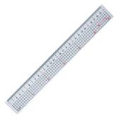 【巴士】110918 30cm 透明塑膠直尺(方格)