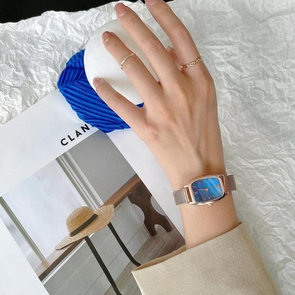 北歐小眾輕奢手錶女款2021年新款簡約氣質ins學生韓版復古石英錶 童趣屋