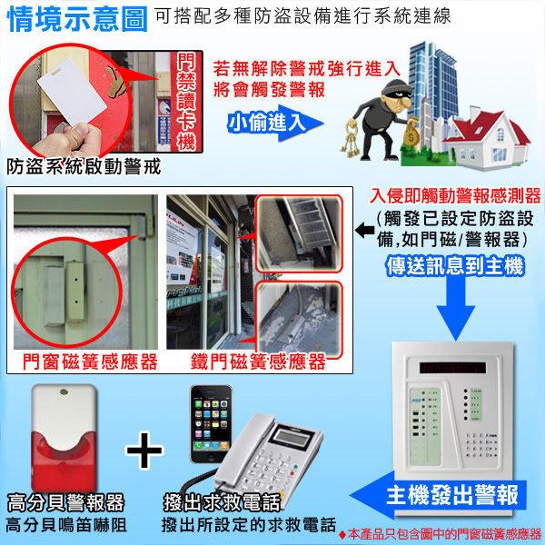 監視器 *超值5入* 門窗磁簧警報器 門櫃磁力感應 磁簧感應門窗 居家 外出 台灣安防